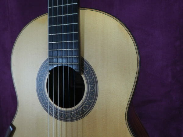 Jim Redgate Konzert gitarre Meistergitarre Meistergitarre gitarrenbauer lattice face haut