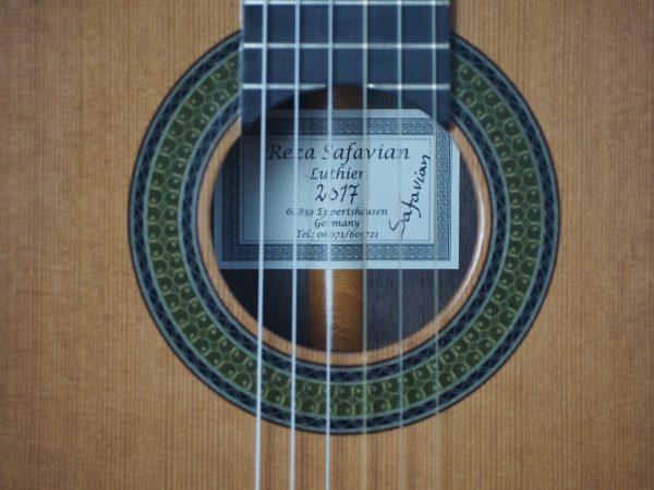 Meistergitarre gitarrenbauer Reza Safavian 17SAF001-01