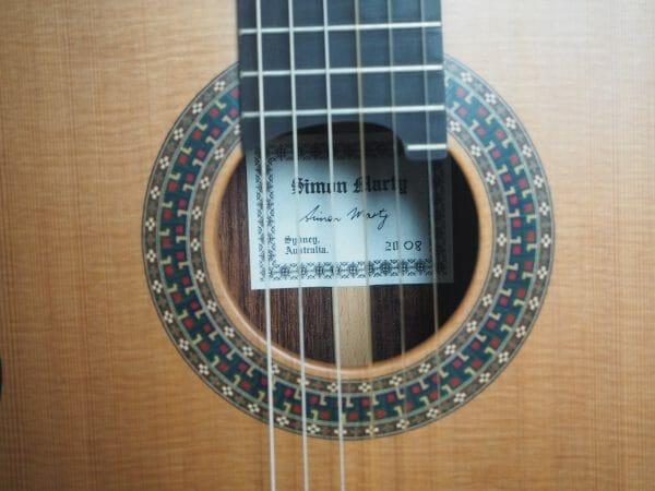 Robin Moyes gitarrenbauer klassische gitarre beleistung radial à la Simon Marty